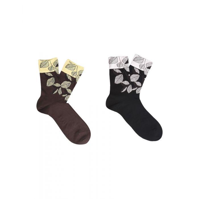 Image for 2pc dark brown cotton socks