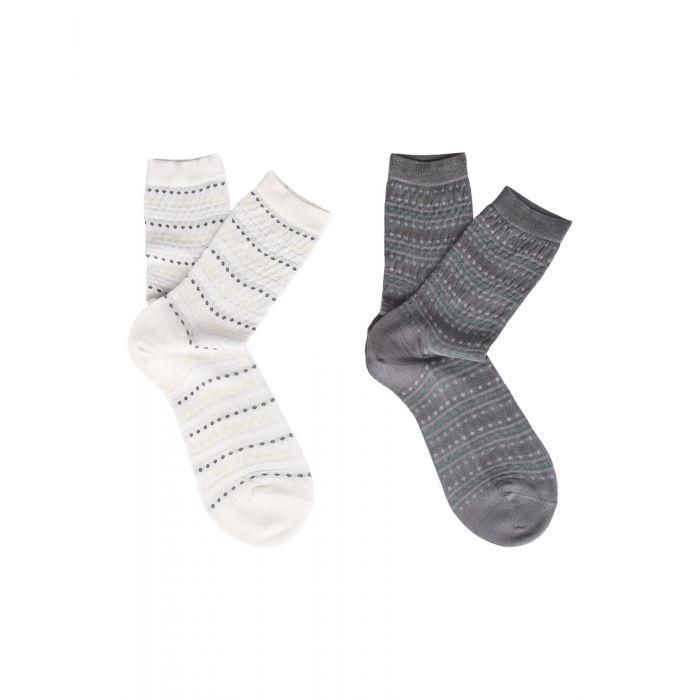 Image for 2pc grey silk socks
