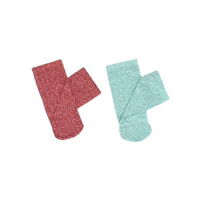 Image for 2pc light green and red socks
