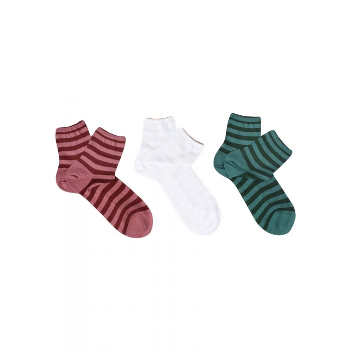 Image for 3pc striped cotton socks set