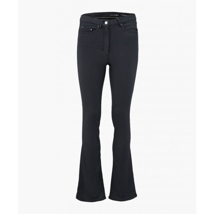 Image for Dark grey triumpt flared high waisted jeans