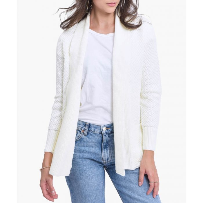 Image for White cashmere blend cardigan