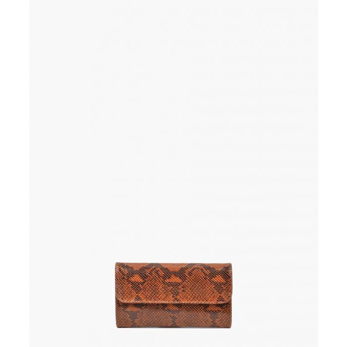 Image for Brown leather clutch
