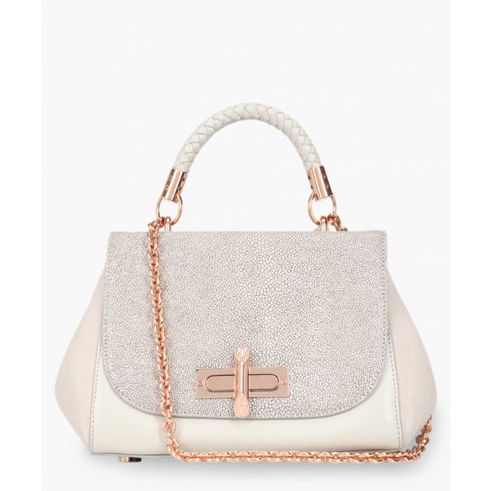 Image for Redmayne grey leather shoulder bag