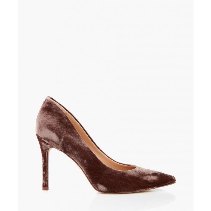 Image for Hazel brown silky velvet court heels