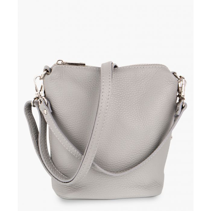 Image for Light grey leather crossbody