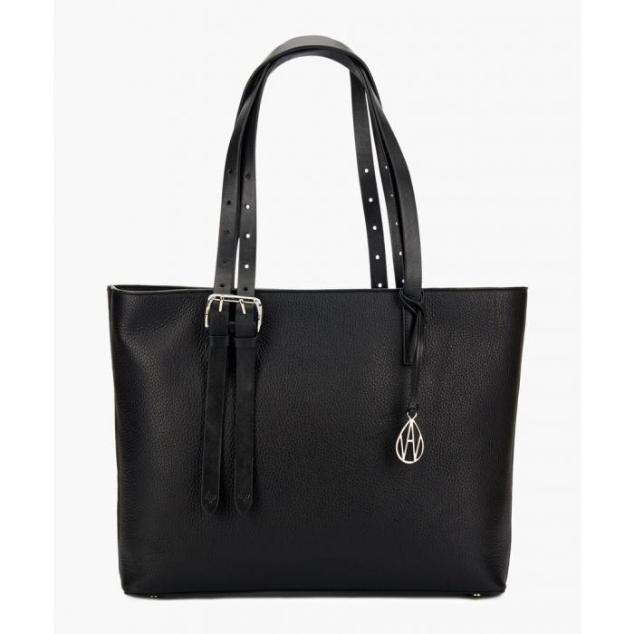 Image for Dean black leather tote
