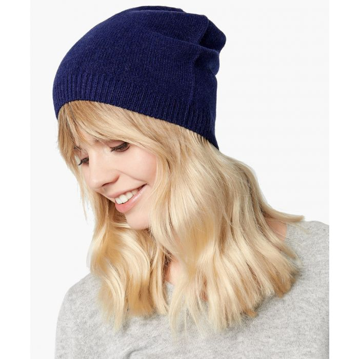 Image for Blue pure cashmere hat