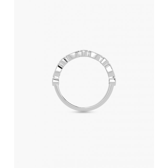 Image for 9k white gold half eternity ring