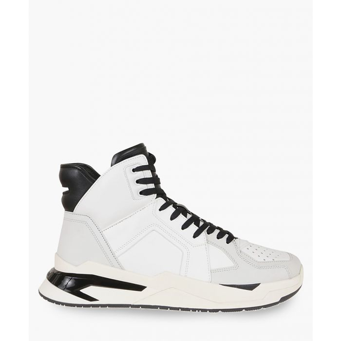 Image for B-ball multi-coloured leather high-top sneakers