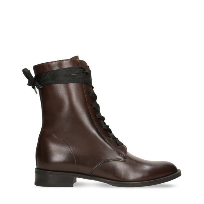 Image for Dark brown leather lace-up boots