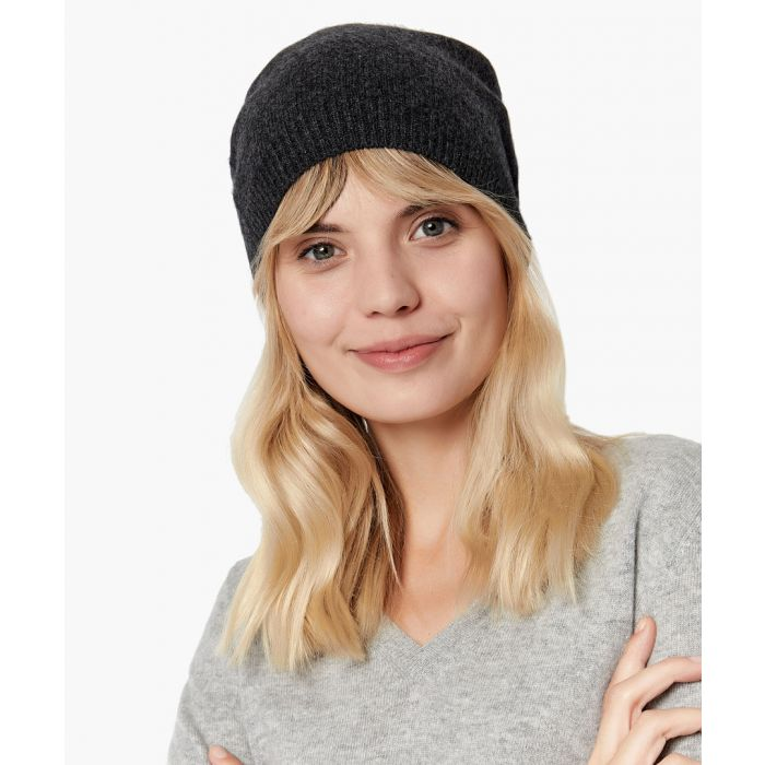 Image for Dark grey pure cashmere hat