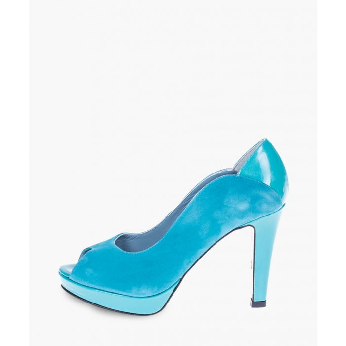 Image for Turquoise leather heels