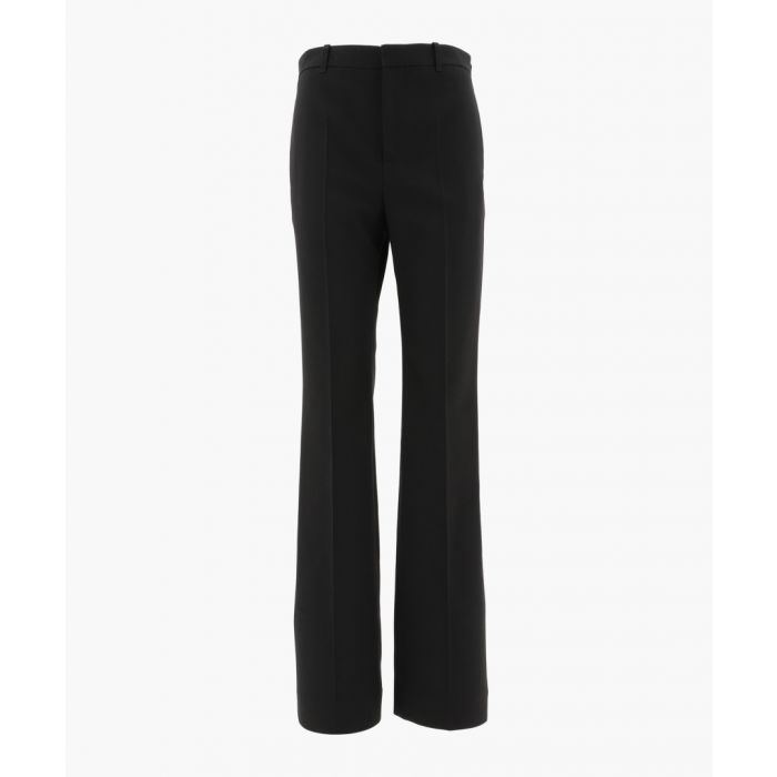 Image for Black wool tailored trousers