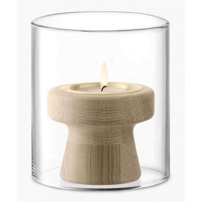 Image for Mistral Oak tealight holder and glass