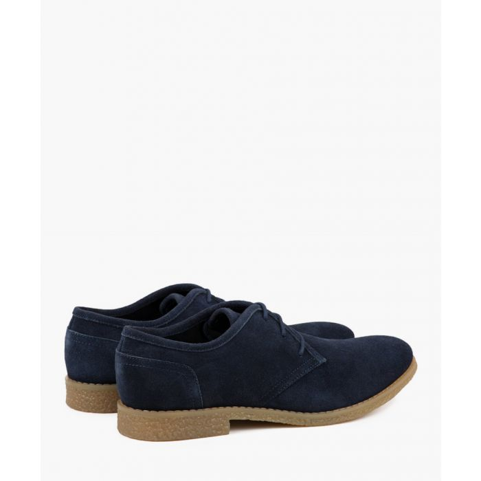 Image for Navy leather Desert shoes