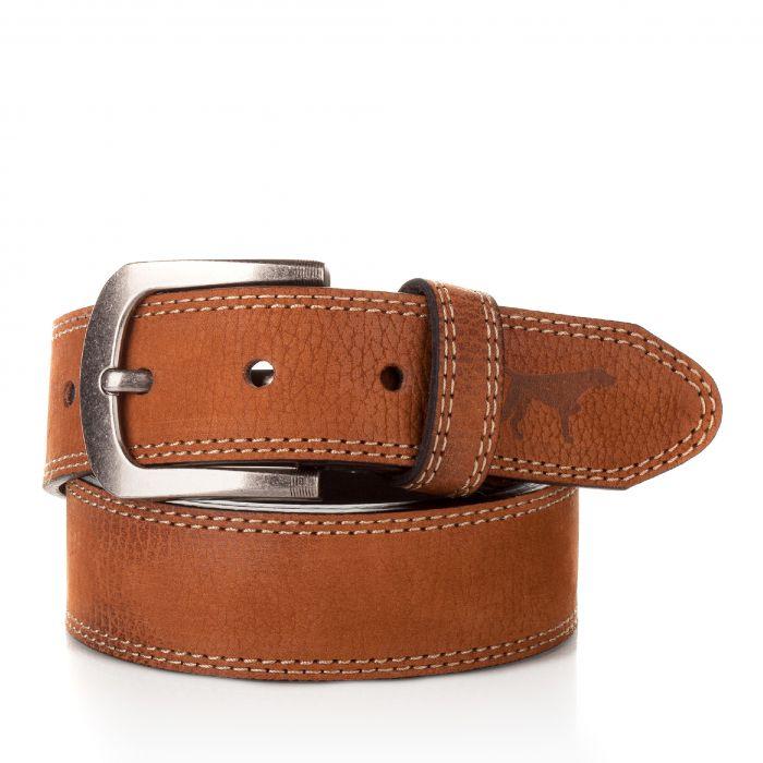 Image for Mens brown leather belt