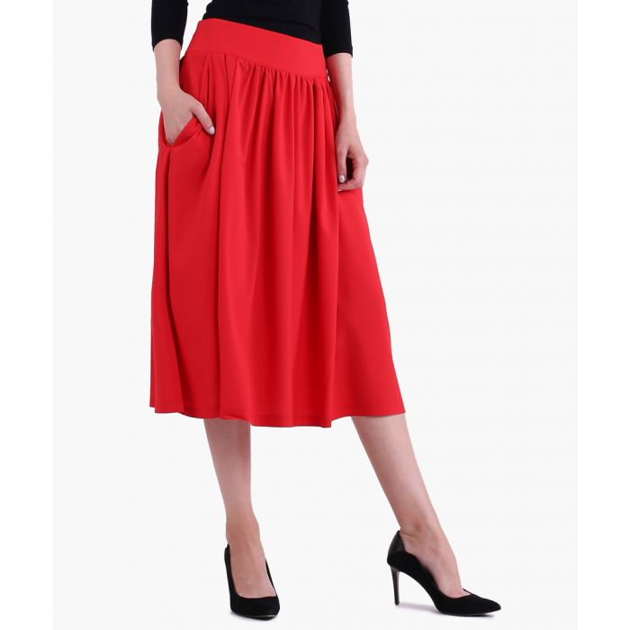 Image for Red Woven Skirt