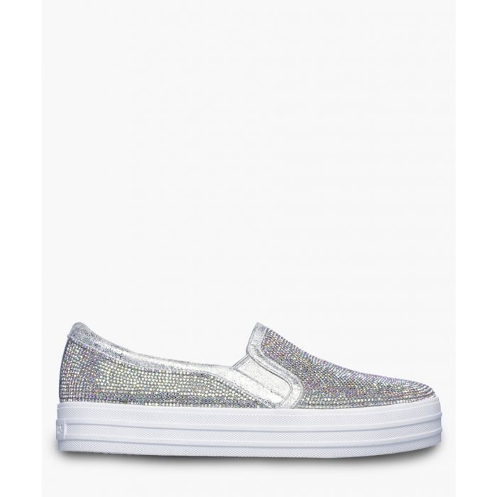 Image for Double up rhinestone silver-tone trainers