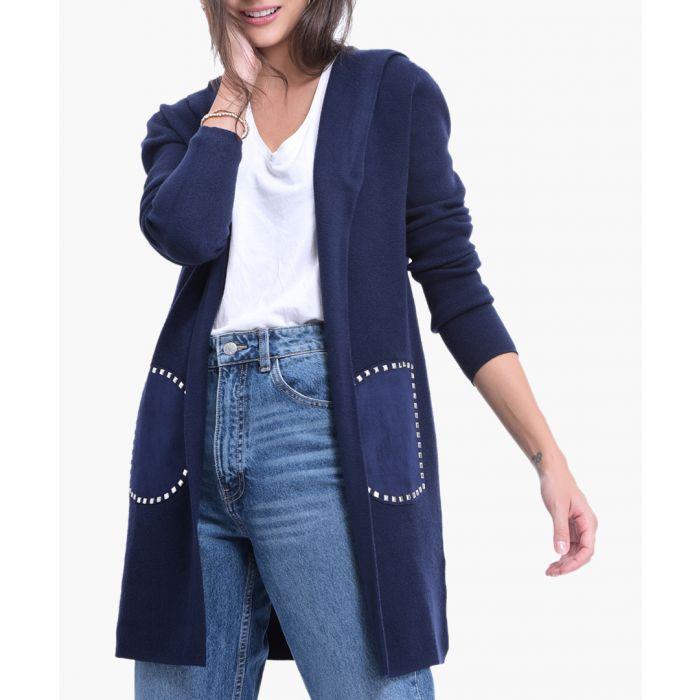 Image for Blue cashmere blend cardigan