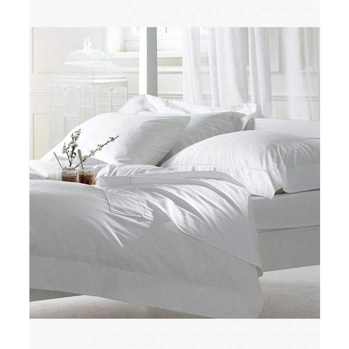 Image for White single duvet set