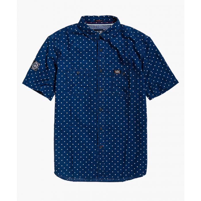 Image for Riveter indigo cotton and linen blend shirt