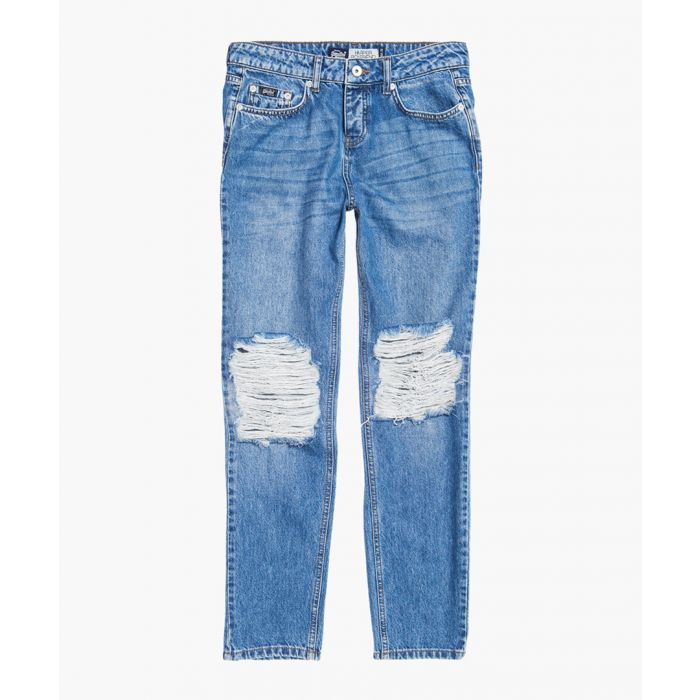 Image for Harper blue cotton boyfriend jeans
