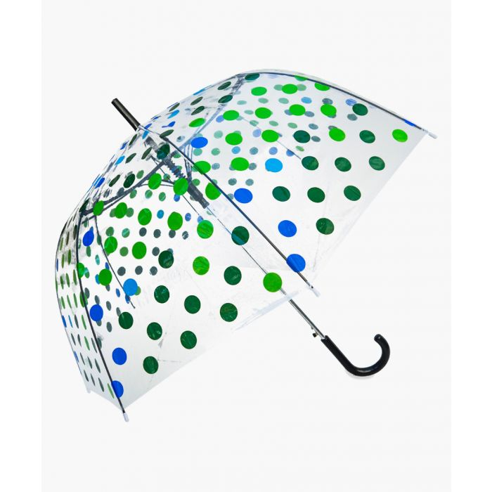 Image for Green polka dot transparent umbrella