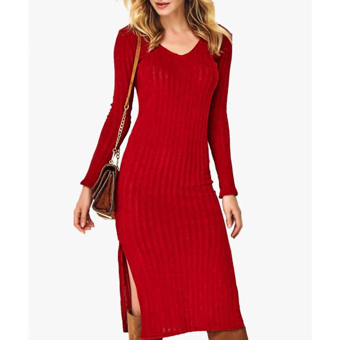 Image for Red knitted jumper