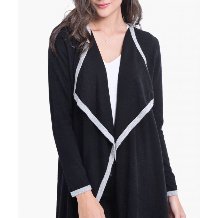 Image for Black cashmere blend cardigan