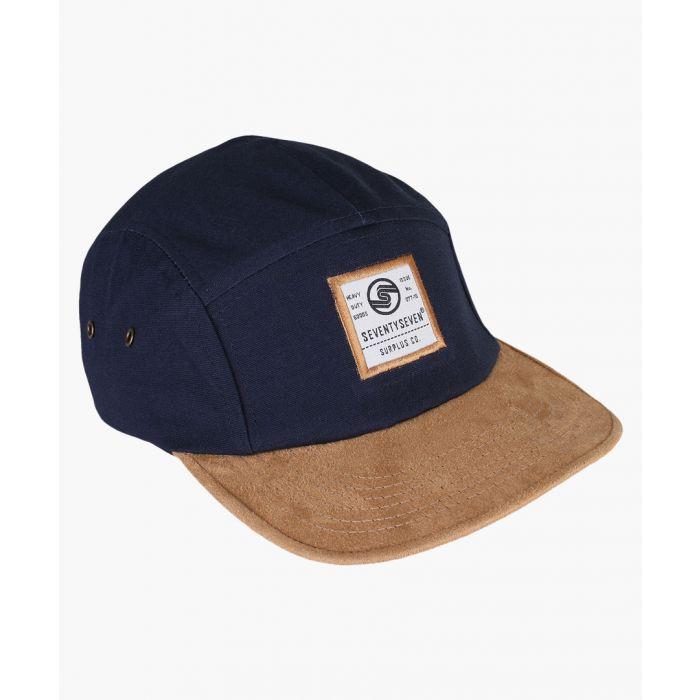 Image for Multi-coloured suede peak cap