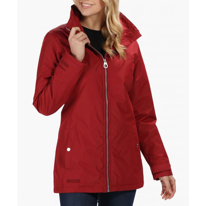 Image for Red insulated zip-up jacket