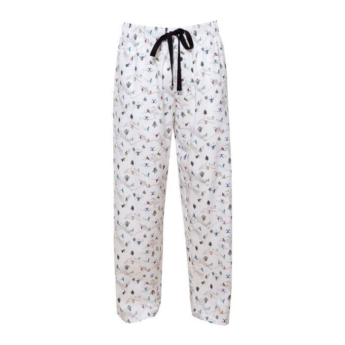 Image for Aspen white ski printed pyjama trousers
