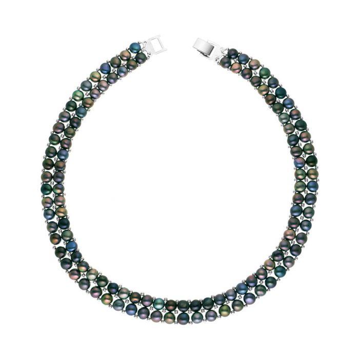 Image for 0.3cm black Tahiti pearl necklace