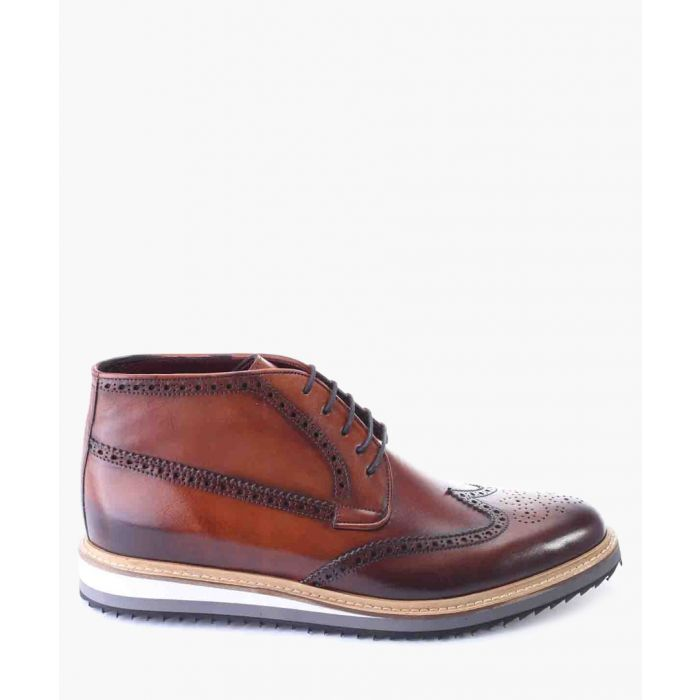 Image for Tan leather chukka boots