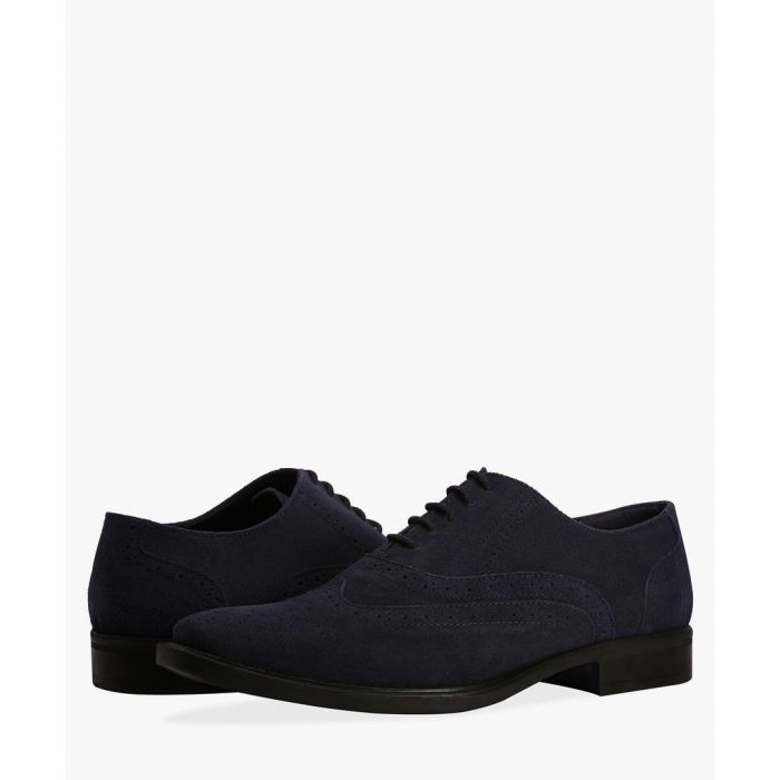 Image for Navy faux-leather Oxford brogues