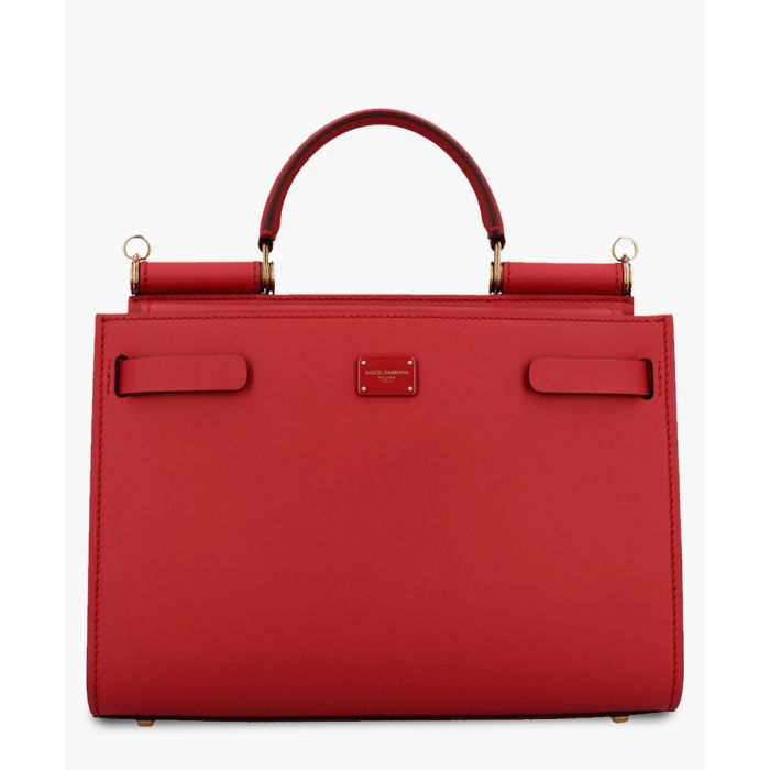 Image for Sicily 62 red leather small tote