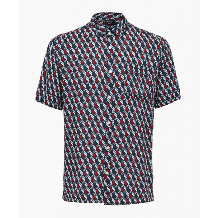 Image for Multi-coloured printed button-up shirt