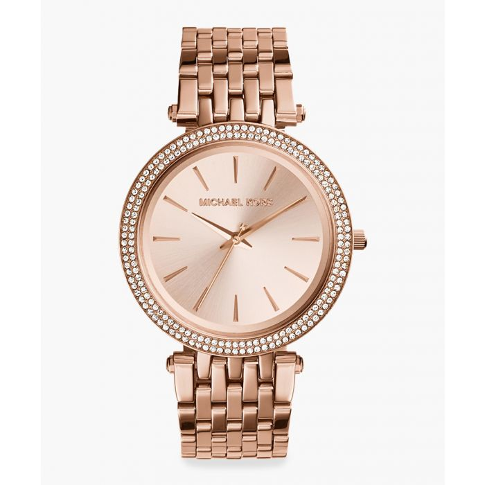 Image for Rose gold-plated stainless steel watch