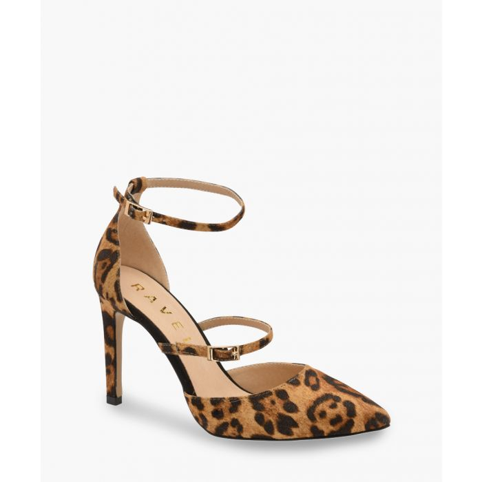 Image for Leopard print double strap heels