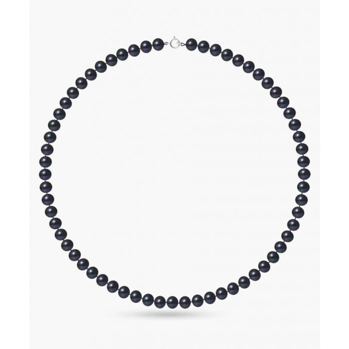 Image for Gold-plated and black freshwater pearl necklace