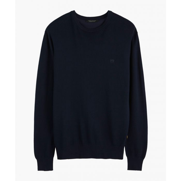 Image for Navy blue classic crew neck jumper