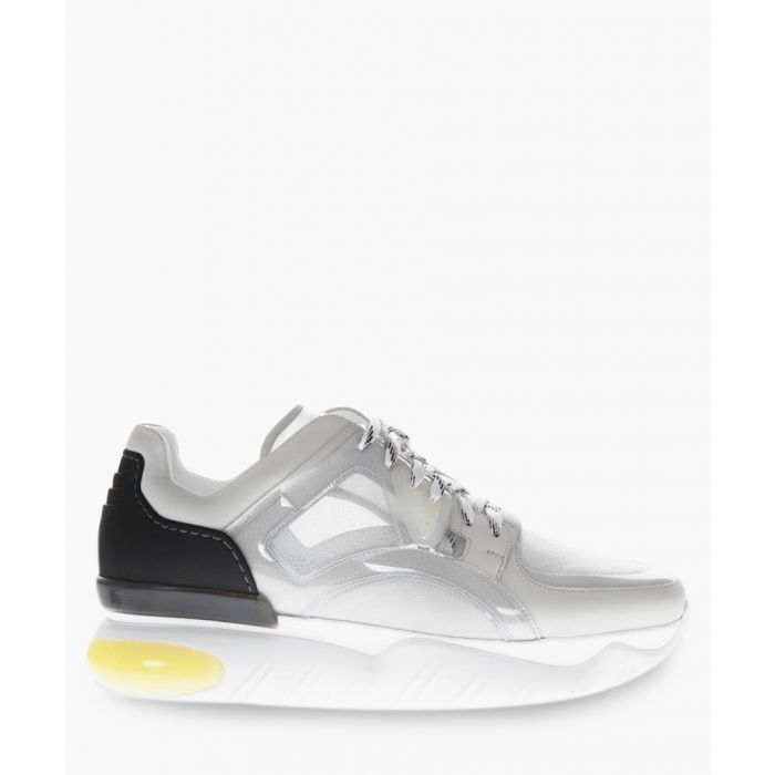 Image for Technical mesh and leather trainers