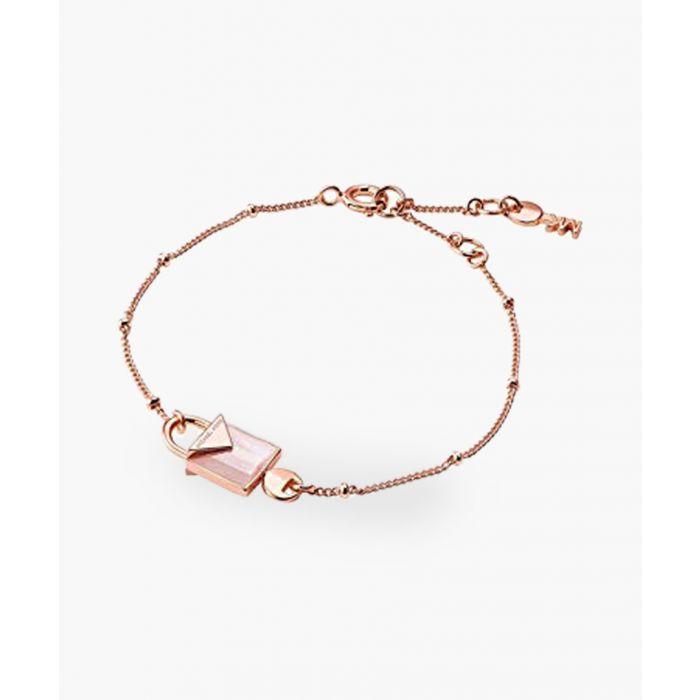 Image for Rose gold-plated pink quartz bracelet