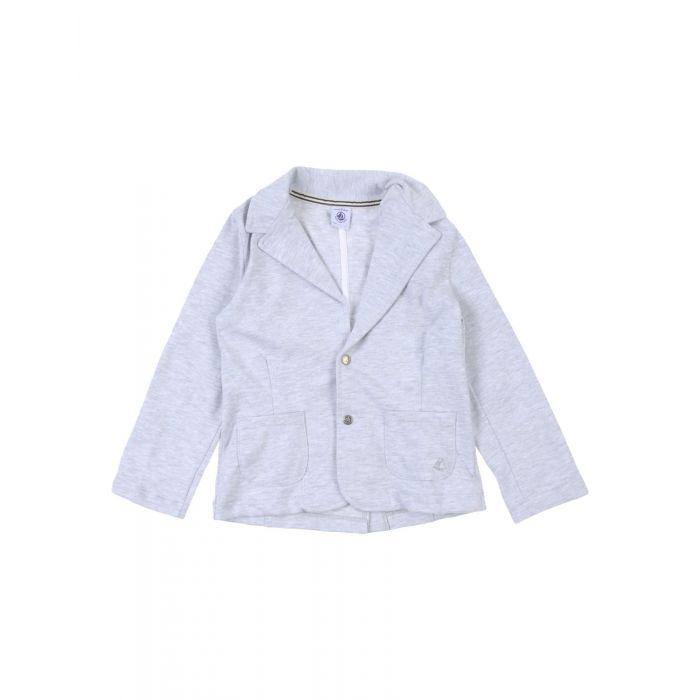 Image for Light grey cotton blazer