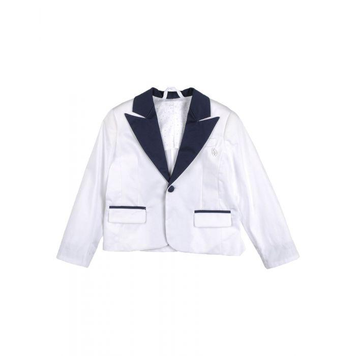 Image for White cotton blazer