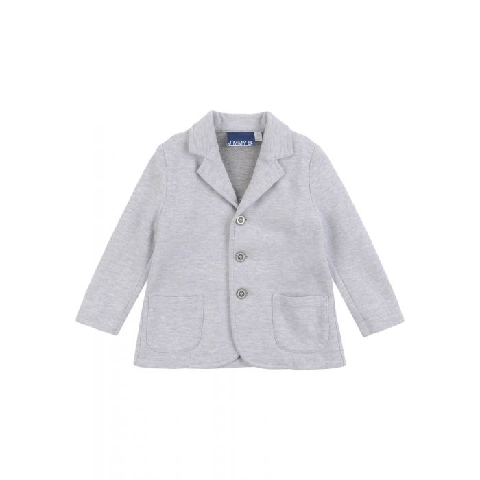 Image for Light grey cotton blazer