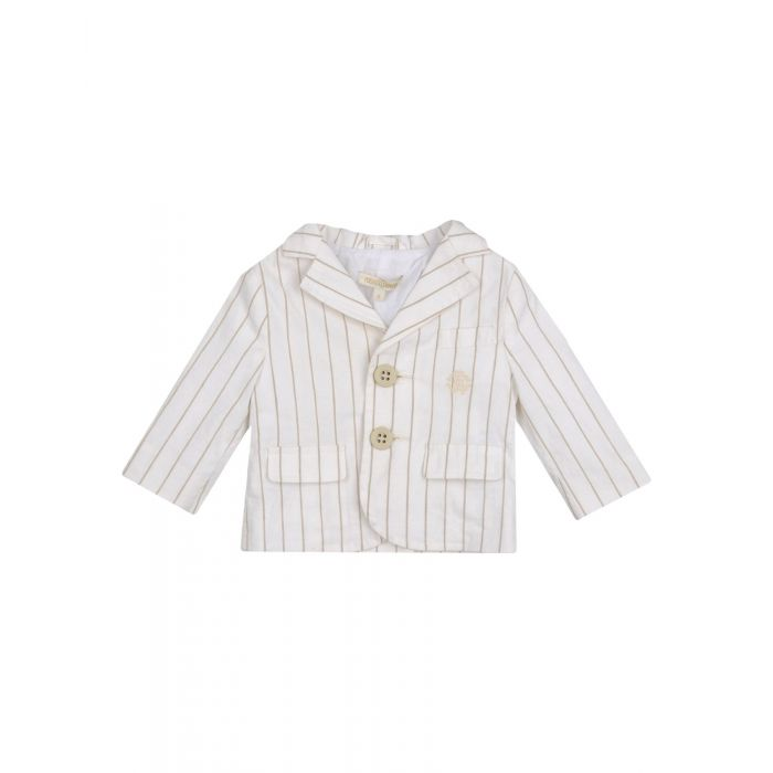 Image for Junior ivory cotton blazer