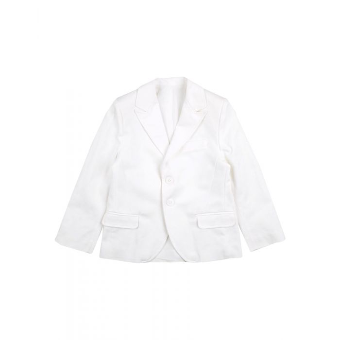 Image for White cotton blazer