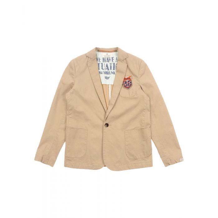 Image for Beige cotton blazer